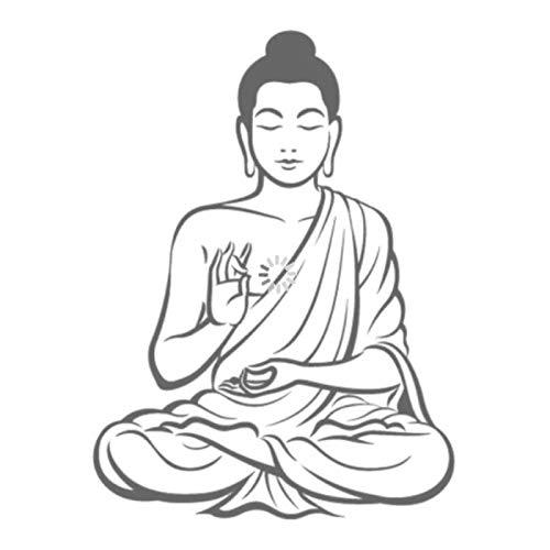 WYLYSD Pegatinas De Pared De Buda Meditando, Calcomanía De Religión, Decoración Artística Para El Hogar, Decoración Mural, Sala De Estar, Dormitorio, 58X44 Cm