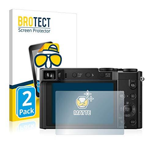 BROTECT 2X Entspiegelungs-Schutzfolie kompatibel mit Panasonic Lumix DMC-TZ101 Bildschirmschutz-Folie Matt, Anti-Reflex, Anti-Fingerprint