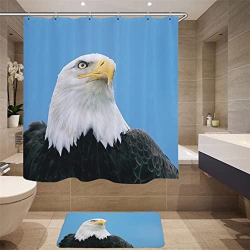Hochwertiger Möbelbedarf Digitaldruck 3D Simulation Tiermuster Duschvorhang Schwan Stoff Duschvorhang Q4 150x180cm