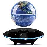 RUIXINDA Magnetic Levitating Globe Bluetooth Speaker 5.0 with LED Flash,Portable Floating Wireless Bluetooth Speaker with Microphone and Touch Buttons,6 inch Floating Globe of World