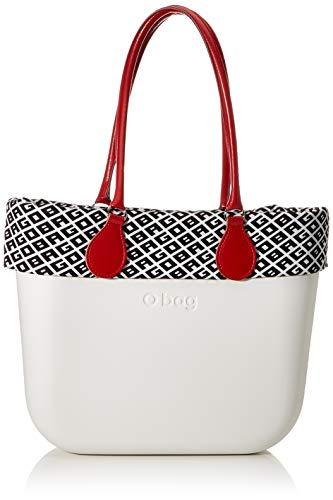 OBAG O Bag Borsa, Pochette Da Giorno Donna, Bianco (Latte), 38X15X38 Cm (W X H X L)