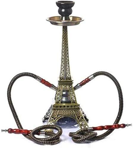 XDJ Wasserrohr · Huka Raucherausrüstung Shisha Huka Pfeife Rauchen Raucherausrüstung Pariser Turm Bong Shisha Doppelschlauch Auf Wassergisselbasis Viel Spaß Beim Rauchen