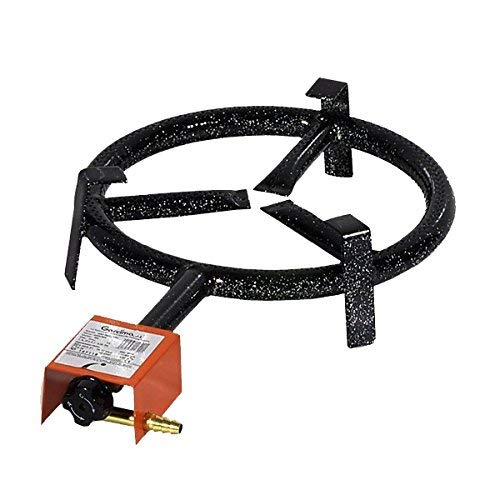 Garcima Paella-Single Ring Butan/Propan Gas-Brenner, Schwarz, 20cm