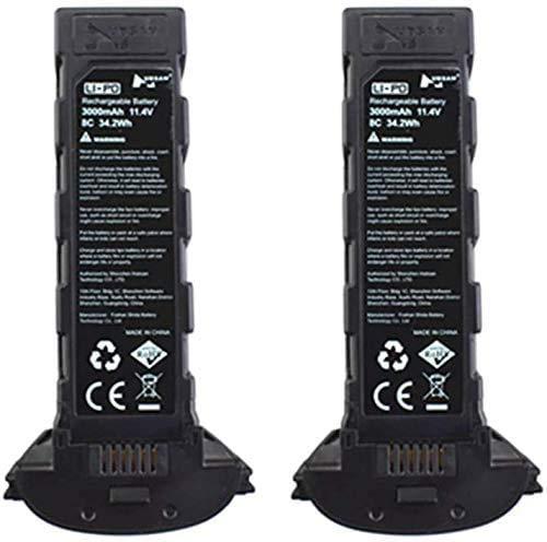 ZYGY 2pcs 11,4V 3000mah batería de Litio para Hubsan H117S Zino Pro de Cuatro Ejes sin escobillas RC Quadcopter repuestos