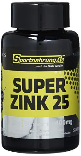 Sportnahrung.de Super Zink 25 - hochwertige Zinktabletten zur Unterstützung von Stoffwechsel und Eiweißsynthese, 90 Tabletten
