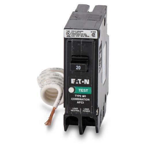 Eaton BRCAF120 Single Pole Type Br 1 Combo Arc Fault Circuit Breaker, 20 Amp