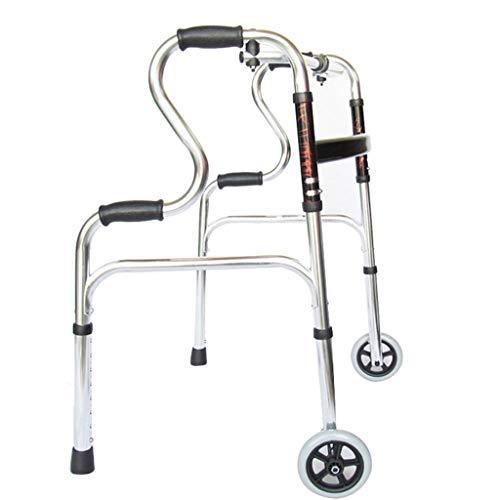 LIYIN- Walker Doppelleiter-Gehhilfen mit 2 Rädern, für ältere Senioren Gehhilfe für das Gesundheitswesen, max .: 180 kg