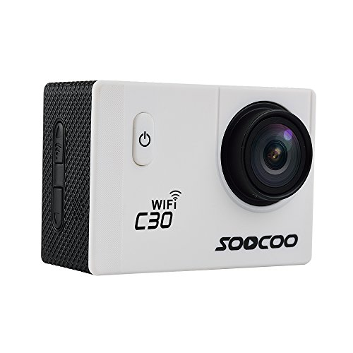16GB TF Card+SOOCOO C30 WiFi Sports Action Camera,HD 4K WiFi Bike Helmet Action Cam 2.0 inch Screen 170 Degree Wide Angle Loop Cycle Recording +1pcs Extra Battery+1pcs Battery Charge(White)