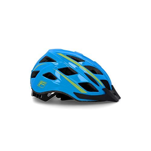 Fischer - Casco da bicicletta Urban per adulti, con anello interno regolabile e illuminato, certificato Ökotest, guscio interno in EPS, Unisex - Adulti, Casco da bicicletta, Montis blu, S/M 55-59