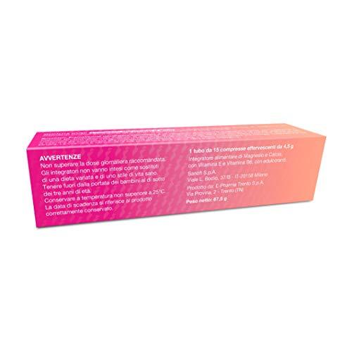 Buscofen Premestruale Integratore Alimentare integratore a base di Magnesio, Vitamina B6, Vitamina E e Calcio, pensato per aiutare le donne nei giorni prima del ciclo. 15 compresse effervescenti.