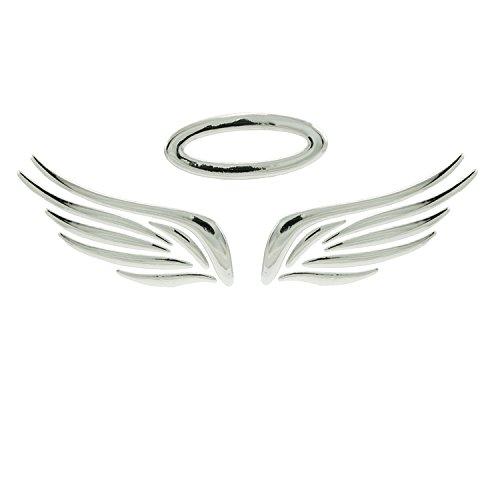 Incutex Autosticker Autoaufkleber Engel Auto Logo car Sticker Angel Tuning, Silber