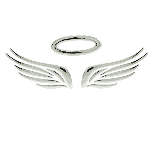 Incutex Autosticker Autoaufkleber Engel Auto Logo car Sticker Angel Tuning, Silber