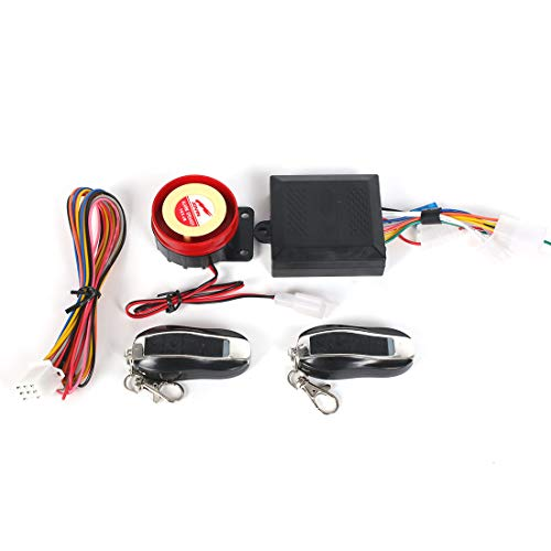 Bompa Universal Fit Motorcycle Anti-Theft Alarm Security System Remote Control Engine Start Kit