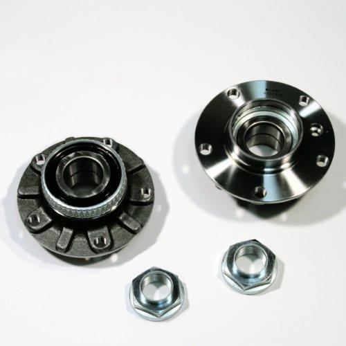 2 x Radnabe / 2 x Radlagersatz + ABS-Ring für vorne/für die Vorderachse