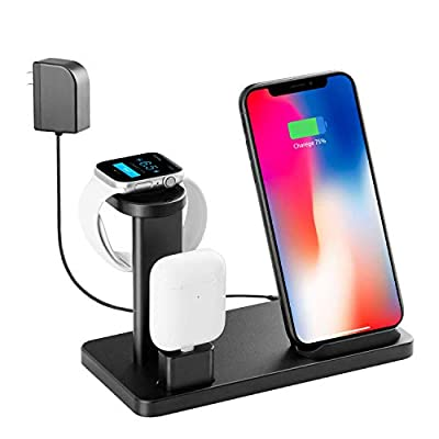 SEOYO Wireless Charger Stand for Iwatch, 10W Qi...