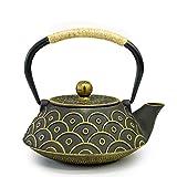 FGDSA Tetera Tetera de Hierro Fundido de 800 ml, Tetera de té de Hierro Fundido japonés Tetsubin Artesanal esmaltada con colador infusor de Acero Inoxidable