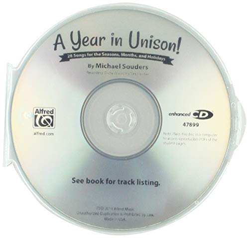 A Year in Unison: 28 Songs for the Seasons, Months, and Holidays, Includes PDF