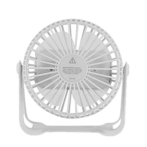 QTCD Ventiladores de Mesa Mini, pequeño y Muy silenciosa frías personales Ajustable de 360 Grados Ventilador de Mesa portátil fanghua