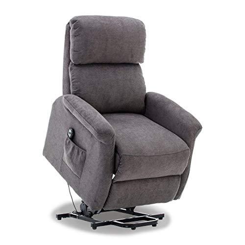 Bonzy Gray Warm Fabric Power Classic Lift Chair