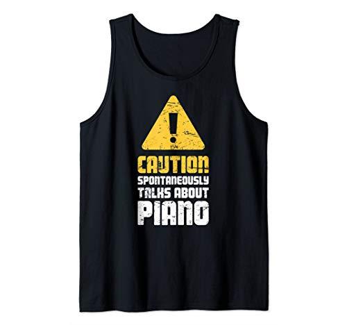 Caution - Piano Lessons, Piano Player & Piano Teacher Tank Top