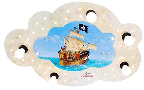 Elobra Kinderzimmerlampe Capt'n Sharky auf hoher See, Deckenleuchte, Holz, beige, 130810