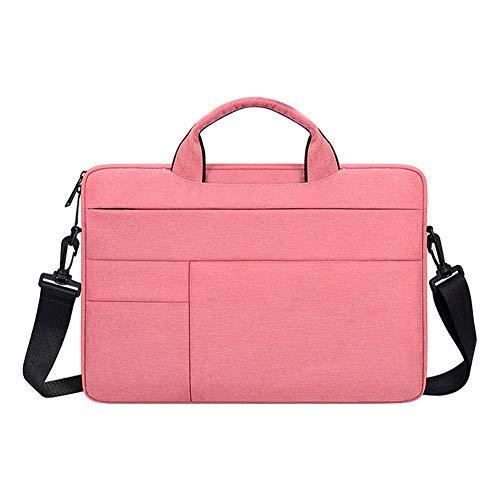 Kecream Laptoptasche Oxford Tuch Wasserdicht Schulter Laptop Liner Tasche Business Messenger Laptop Tasche für 13.3 14.1 15.4 15.6 Zoll, rose (Pink) - WMRIMA1DEK