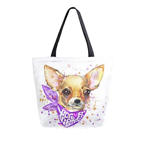 ZZKKO Bolso de lona para cachorro de estilo informal, para llevar al...