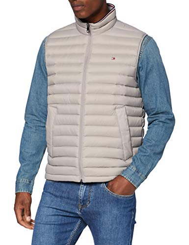 Tommy Hilfiger Herren Packable Down Vest Jacke, Grey, XXX-Large