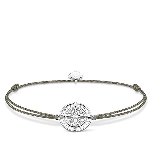 Thomas Sabo Damen-Armband Little Secret Kompass Glaube Liebe Hoffnung 925er Sterlingsilber LS078-401-5-L20v