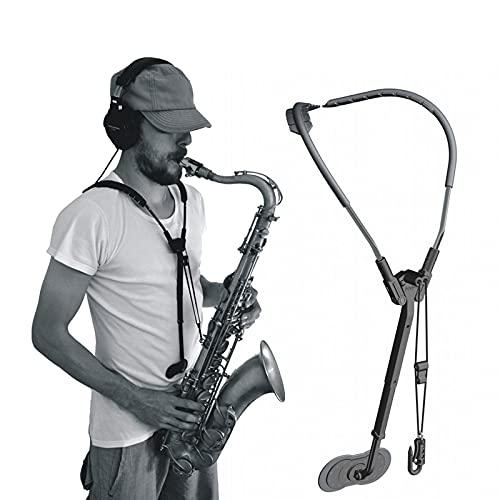 EnweKapu Arnes para Saxofon, Correa para Saxofon con Gancho de Metal, Correa de Arnés Universal para Saxofón Alto, Tenor, Soprano, Baritono
