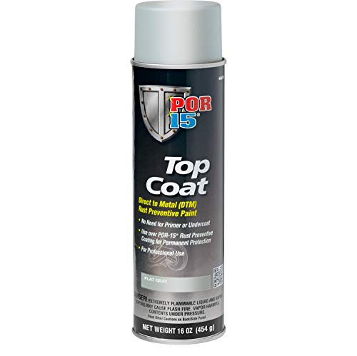 POR-15 46618 Top Coat Flat Gray Spray Paint 16 fl. oz.