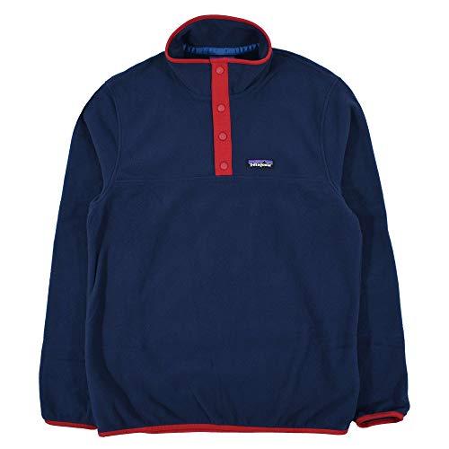 Patagonia M's Micro D Snap-t P/O Herren-Sweatshirt M Neue Marine mit klassischem Rot
