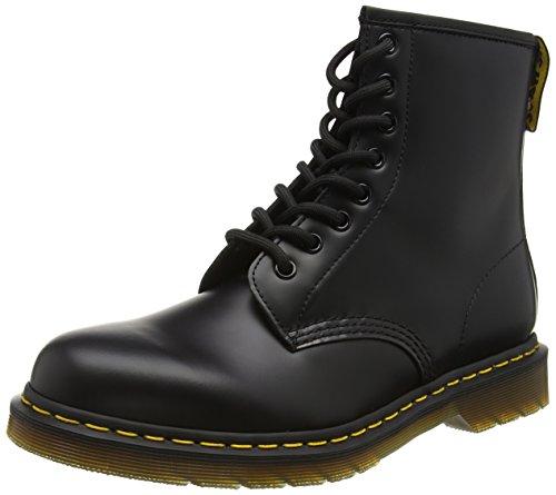 Dr. Martens 1460 - Botas Militares de Mujer, Negro (Black Smooth Leather), 44 EU