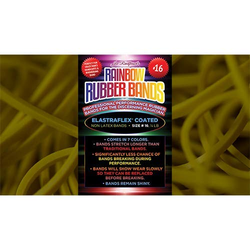 SOLOMAGIA Joe Rindfleisch's Size 16 Rainbow Rubber Bands (Russell Leeds -Yellow )...