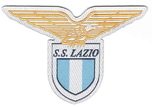 Patch-Toppa Microricamata in HD/jacquard (Alta Definizione)Termoadesiva - scudetto Lazio - Dimensioni : H. cm.5,5 x L. cm.8,2 - Made in Italy