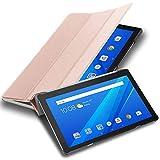 Cadorabo Funda Tableta para Lenovo Tab M10 (10.1' Zoll) in Oro Rosa Pastel – Cubierta Proteccíon Bien Fina en Cuero Artificial en Estilo Libro SIN Auto Wake Up e Función de Suporte