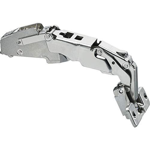 Blum Clip snelkookpan 155, 9,5 mm gebogen, zonder veer, schroeven, 1 stuk, 41453