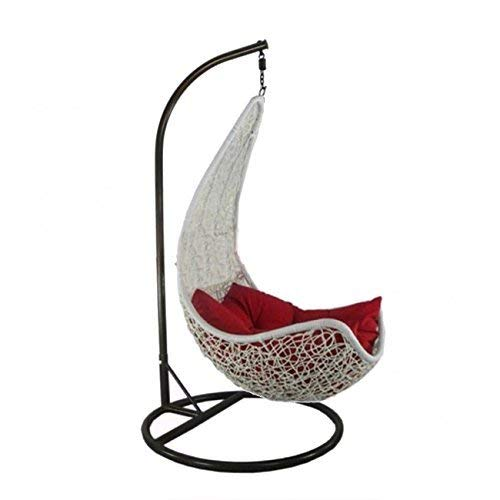 kaushalendra Swing Hammock Chair for Adult Swings Jhula with Stand 120 kg Capacity (White)