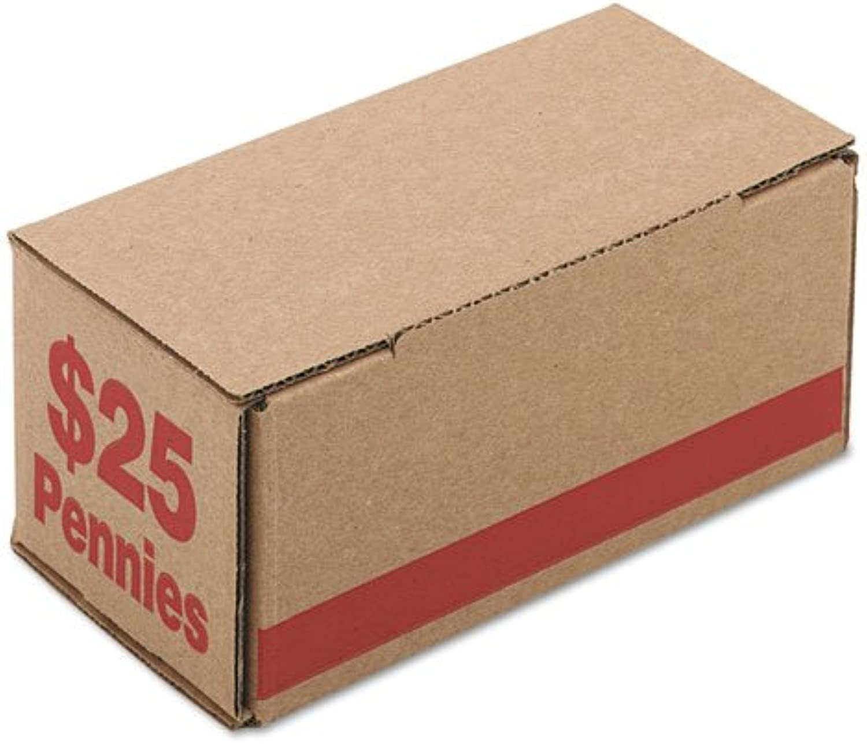 Coin Box, Pennies, 25, 50 CT, rot, Sold as 1 Carton