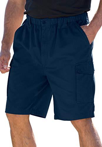 Boulder Creek Men's Big & Tall 9' Renegade Cargo Shorts With Full Elastic Waist,Navy,Big - 3XL