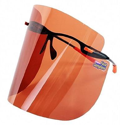 S-view Face Brown Film Sunglass Sunscreens Tanning Products Outdoor Gardening Sports Anti-uv Anti-fog Sunglass Eye Solar Face Protection Sunglass Professional Face Mask Sun Visor Face Shields