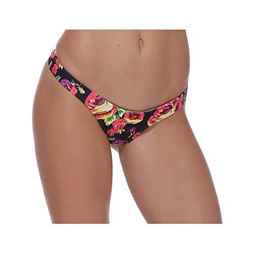 SEXY Women Bikini Bottom solid Color G-String Brazilian Thongs Swimwear high Waist Swimsuit Bottom Swimming Orange XL