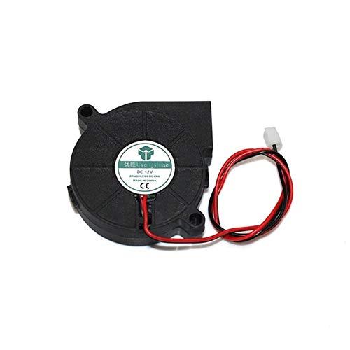 MANMANYU 5015 5/12 / 24V de refrigeración del ventilador sin escobillas impresora Turbo 3D aficionados Piezas 2P for Extrusora DC enfriador del ventilador 50x50x15mm Parte de plástico Negro Accesorios