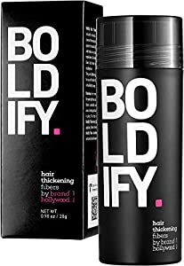 BOLDIFY Hair Fibers for Thinning Hair (DARK BROWN) 100% Undetectable Natural Fibers - Giant 28g Bottle - Completely Conceals Hair Loss in 15 Seconds - For Women & Men