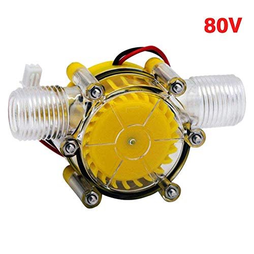 Amusingtao Micro Hydro Generator Dc 5V 12V 80V Hydraulische Gh Power Selbermachen Pumpe Heim Wasser Durchfluss Energie Umwandlung Edelstahl Wasserhahn Hotel Licht Mini Turbine (5V) - 0-80v, Free Size