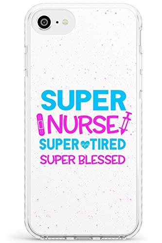 Medical Ispirato Super Nurse Impact Cover per iPhone 7 Plus TPU Protettivo Phone Leggero con Infermiera Assistenza Infermieristica Medico Medico