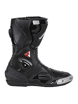 BOHMBERG® Bottes de Sport en Cuir Imperméable Bottes de Moto en Cuir Robuste avec Protections de Coque rigides exposées
