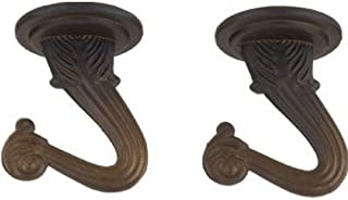 Westinghouse Lighting Corp 70454 2PK 1-1/2-Inch Swag Hook, Oil Rubbed Bronze