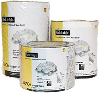 Grace 5003107 Vycor Plus Fully Self-Adhered Flashing - 12 in. x 75 ft.