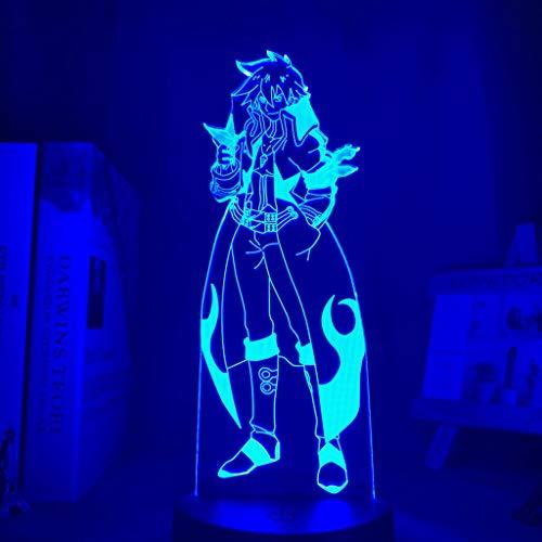 16 colores Anime Gurren Lagann Simon Luz de noche Led para decoración de dormitorio Lámpara de noche Tengen Toppa Gurren Lagann Regalo Acrílico Neón Lámpara 3d